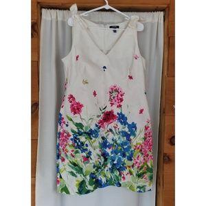 Chaps Sleeveless Floral Dress